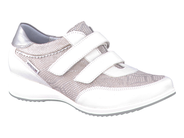 6862e00eb56410 ... chaussures confortables velcro femme - modèle ELODIA Blanc. Marche  femme modèle Elodia Blanc - Mephisto