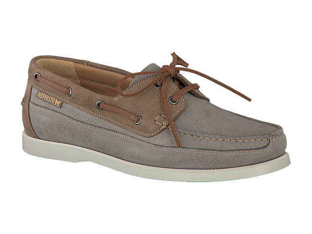 lacets homme modèle Boating Nubuck Gris Clair - Mephisto
