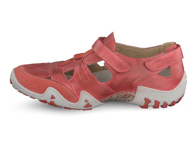 3b6cf7e1448e13 Chaussures confortables Velcro femme Allrounder by Mephisto - modèle  FIRELLI Rouge. Marche femme modèle Firelli Corail - Mephisto