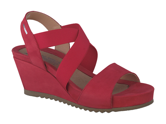 Mephisto Shop Chaussures Confortables Compensees Femme Modele Giuliana Rouge
