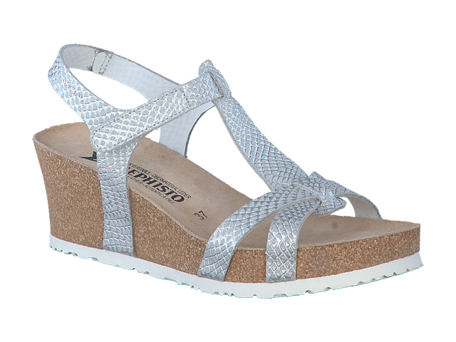 Mephisto Shop Chaussures Confortables Compensees Femme Modele Liviane Texture Blanc