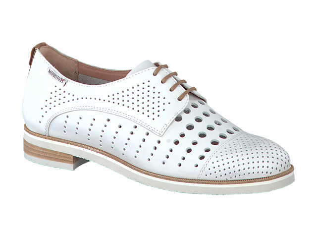 lacets femme modèle Pearl perf Cuir Blanc - Mephisto