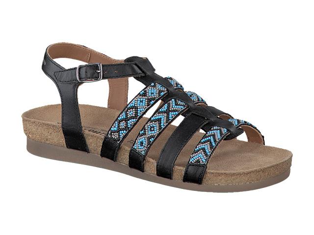 mephisto shop chaussures confortables sandales femme mod le victoire noir et turquoise. Black Bedroom Furniture Sets. Home Design Ideas