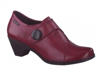 Chaussure mephisto bottines modele marya cuir rouge carmin