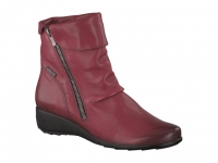 Chaussure mephisto bottines modele seddy cuir rouge carmin