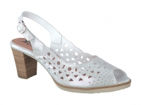 Chaussure mephisto velcro modele solange perf blanc
