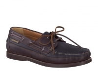Chaussure mephisto mocassins modele boating cuir lisse noir