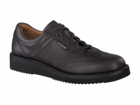 Chaussure mephisto mocassins modele adriano cuir lisse brun foncé