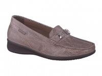 Chaussure mephisto mules modele georgia lezard taupe foncé