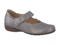 chaussure mobils velcro fabienne irrisé taupe