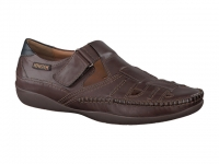 Chaussure mephisto mules modele ivano cuir brun foncé