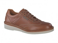Chaussure mephisto mocassins modele adriano cuir lisse noisette