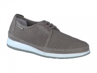 Chaussure mephisto mocassins modele harry perf nubuck gris clair