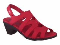 Chaussure mephisto Passe orteil modele coralie nubuck rouge