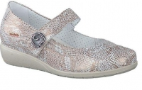 Chaussure mobils Boucle modele jessy crocodile beige