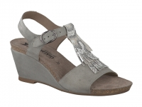 Chaussure mephisto sandales modele jenny nubuck gris clair