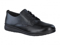 Chaussure mephisto mules modele lester cuir lisse noir