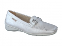 Chaussure mephisto mules modele natala cuir blanc cassé
