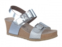 Chaussure mephisto mules modele lissandra bi-matière argent