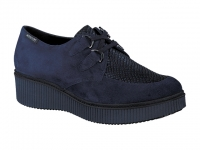 Chaussure mephisto Compensée modele evony velour bleu serpent
