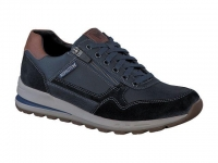 chaussure mephisto lacets bradley cuir bleu