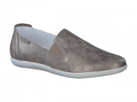 Chaussure mephisto mules modele korie cuir irrisé taupe foncé