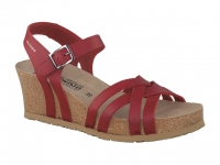 Chaussure mephisto sandales modele lanny rouge