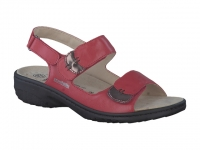 Chaussure mobils mocassins modele getha cuir rouge