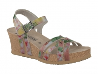 Chaussure mephisto Compensée modele lanny fleurs rose