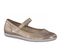 Chaussure mephisto velcro modele charlote cuir vieilli champagne
