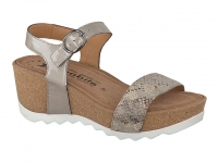 Chaussure mobils Boucle modele xandra lezard taupe