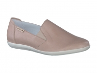 Chaussure mephisto sandales modele korie cuir taupe clair