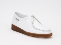 chaussure mephisto lacets christy cuir blanc