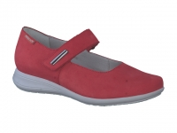 Chaussure mephisto velcro modele nyna rouge