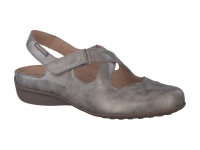 Chaussure mobils mules modele fiorine taupe foncé