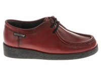 chaussure mephisto lacets christy cuir rouge