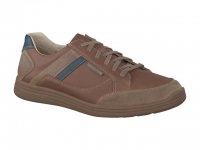 Chaussure mephisto mocassins modele frank cuir taupe foncé