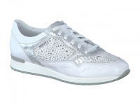 chaussure mephisto lacets napolia bi-mat blanc