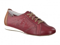 chaussure mephisto lacets belisa perf cuir bordeaux