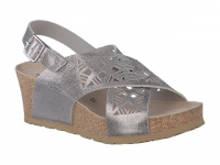 Chaussure mephisto  modele lea cuir argent