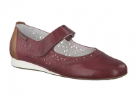 Chaussure mephisto velcro modele beatrice perf cuir bordeaux