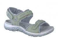 Chaussure all rounder velcro modele lagoona taupe