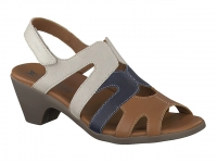Chaussure mephisto mules modele coralie tricolore beige
