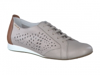 chaussure mephisto lacets belisa perf cuir gris clair