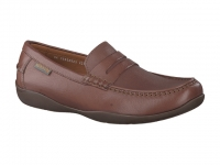 Chaussure mephisto mules modele igor texturé chataigne