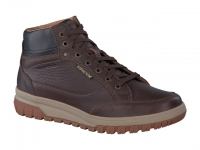 Chaussure mephisto mocassins modele paddy cuir texturé chataigne
