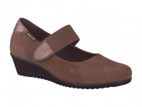 Chaussure mephisto Compensée modele giordana nubuck taupe