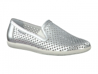 Chaussure mephisto  modele khali perf argent