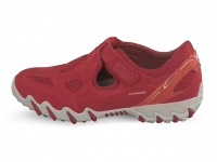 Chaussure all rounder lacets modele nana rouge