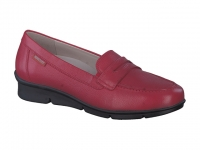 Chaussure mephisto sandales modele diva cuir lisse rouge